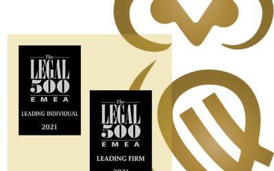 Legal 500 рангирање 2021 година