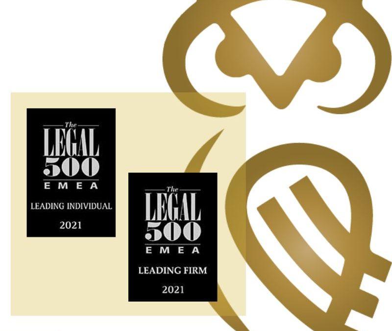 Legal 500 ranking 2021